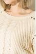Джемпер женский удлиненный 135V002 песочный