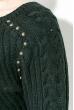 Джемпер женский удлиненный 135V002 черный