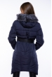 Куртка женская с поясом 120PSKL2258 темно-синий