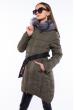 Куртка женская с поясом 120PSKL2258 хаки