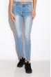 Джинсы женские с потертостями 518F012 голубой варенка
