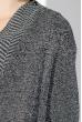 Кардиган женский с карманами из искусственного меха 69PD832 серый меланж