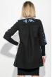 Пальто женское нашивки цветочных веток, рукав три четверти 69PD970 черный