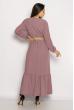 Легкое однотонное платье  640F001-1 сиреневый