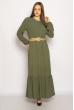 Легкое однотонное платье  640F001-1 хаки