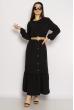 Легкое однотонное платье  640F001-1 черный