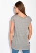 Легкая женская футболка 148P045 черный / серый меланж
