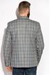 Пиджак классический в клетку 32P107 серо-голубой / меланж