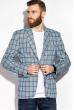 Пиджак классический в клетку 32P107 светло-голубой / электрик / меланж