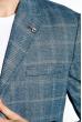 Пиджак классический в клетку 32P107 джинс-белый / меланж