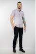 Рубашка в мелкую полоску 199P0116 бело-сиреневый