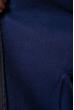 Бомбер на молнии с флисом 120PAR150 темно-синий