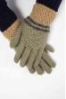 Перчатки  202P013 оливково-грифельный
