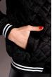 Бомбер женский 120POLD3007 черно-белый