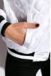 Бомбер женский 120POLD3007 белый