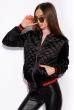 Бомбер женский 120POLD3007 черно-красный
