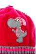 Шапка детская с нашивкой «Дракончик» 65P15-046 junior малиновый