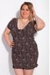 Ночная сорочка женская 107P7-1 черно-розовый