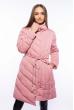 Женская куртка с хомутом 120PSKL9082 розовый