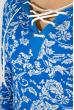 Свитшот женский с капюшоном  32P027 голубой