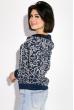 Свитшот женский с капюшоном  32P027 темно-синий