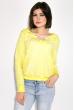 Свитшот женский с капюшоном  32P027 лимонный