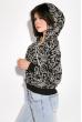 Свитшот женский с капюшоном  32P027 черный
