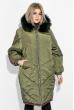 Пальто женское зимнее, стильный крой 69P01057 фисташковый