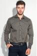 Рубашка мужская двойной воротник в полоску 50PD15601 черно-карамельный
