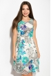 Платье женское 964K041 молочно-бирюзовый