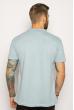 Однотонное мужское поло 627F022 голубой