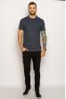 Однотонное мужское поло 627F022 джинс