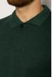 Однотонное мужское поло 627F022 зеленый