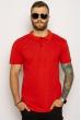 Однотонное мужское поло 627F022 красный