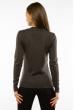 Пуловер женский с V-образным вырезом 618F401 грифельный