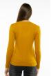 Пуловер женский с V-образным вырезом 618F401 горчичный