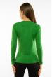 Пуловер женский с V-образным вырезом 618F401 зеленый