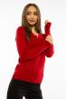 Пуловер женский с V-образным вырезом 618F401 красный