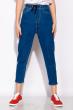 Женские джинсы на резинке с завязками 120PGU025 светло-синий