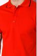 Поло с контрастной полоской на воротнике 120PKE331-1 красный