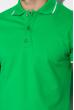 Поло с контрастной полоской на воротнике 120PKE331-1 зеленый