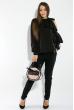 Блузка женская с завязками на плече 78PD5088 черный