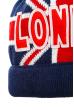 Шапка с текстовым принтом 65PB15-020 junior сине-красный