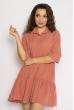 Платье с рукавами 3/4  632F008 пудровый