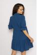 Платье с рукавами 3/4  632F008 синий