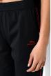 Бриджи женские с контрастными полосами 120PKL888 чернильно-красный