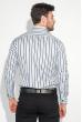 Рубашка мужская в полоску 50PD50701 серо-белый