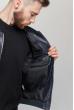 Куртка мужская стильная  712K002 темно-синий