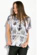 Блуза женская, принтованная 5400 черно-серый