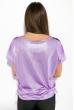 Блуза женская, принтованная 5400 сиренево-серый